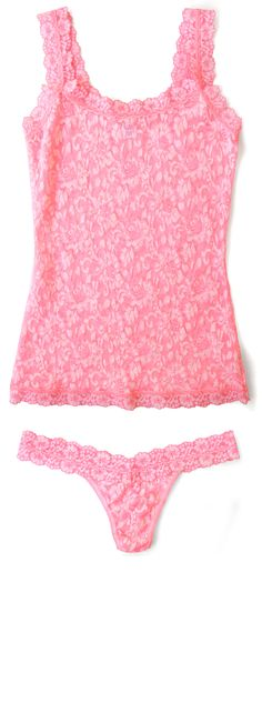 Hanky Panky Cross-Dyed Signature Lace Camisole & Low Rise Thong