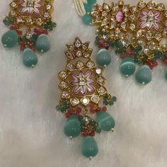 Indian Jewelry Earrings, Indian Jewelry Sets, Fancy Jewellery, Indian Wedding Jewelry, Pendant Jewelry, Bridal Party Jewelry, Bridal Bangles, Pink Diamond Jewelry, Gold Jewelry