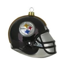 Pittsburgh Steelers NFL Glass Helmet Christmas Tree Ornament