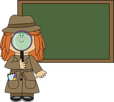 Girl Detective and Chalkboard