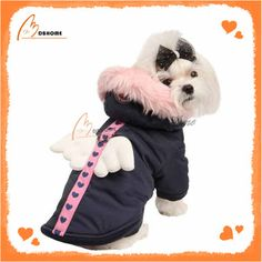 street this winter with this warm Morning Star Dog Coat by Pinkaholic Big Dogs, Small Dogs, Dressed Up Dogs, Small Dog Clothes, Designer Dog Clothes, Dog Coats, Dog Design, Baby Car Seats, Teddy Bear