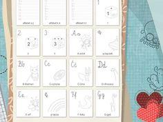 Drukowanki - nauka pisania Calendar, Holiday Decor, Life Planner