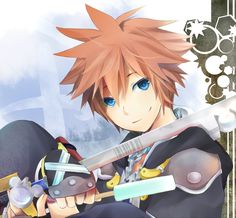 Sora from Kingdom Hearts series~ I've never played KH I or II, but I was watching my bro playing it then (good old times), Sora was/is my favourite >. Kingdom 3, Sora Kingdom Hearts, Good Old Times, New Theme, Video Game Art, Final Fantasy, Anime, Fan Art, Deviantart
