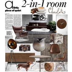 """""""Chocolate great room"""" by szaboesz on Polyvore"""
