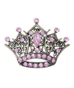 Shop Antique Golden Tone Pink Rhinestones Vintage Princess Queen Crown Brooch Pin - Discover the best Brooches & Pins in Best Prices and Enjoy Fast Shipping. Jewelry Party, Jewelry Gifts, Unique Jewelry, Silver Pendant Necklace, Crystal Pendant, Queen Crown Tattoo, Crown Tattoos, Strass Vintage, Jewel Tattoo