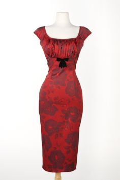 Erika Dress in Red Rose Print
