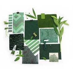 An Emerald green moodboard with fabrics from our Omega, Lana and Sigma collections and wallpaper from Fable. Will you choose a jewel toned Emerald shade for your next interior design project?