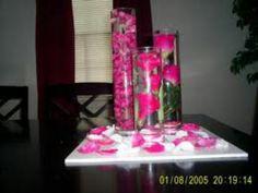 Table decor. Hot pink wedding