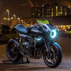 Honda's latest concept bike, the CB4 Interceptor : Cyberpunk
