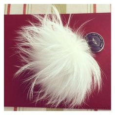 Your keys will not be going missing with this Ivory pom pom Keyring!
