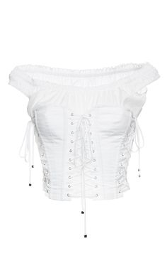 Cotton Poplin Off The Shoulder Corset Top by DOLCE & GABBANA for Preorder on Moda Operandi