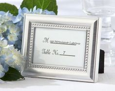 Beautifully Beaded Photo Frame and Placeholder - could keep this for wedding photo or table photo...