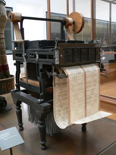 Jacquard loom on display Museum of Science and Industry in Manchester, England