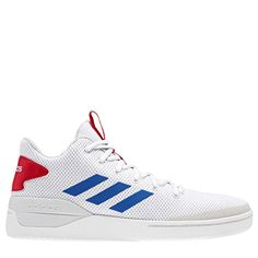 new product 5c848 a3855 Adidas Men s Bball80S High Top Basketball Shoes (White Blue Red) High Top