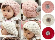 Baby Girl Cute Winter Knit Crochet Beanie Hat, $2.99 + S on ebay.