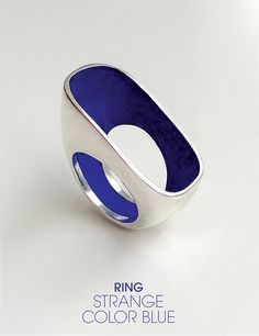strange color blue • silver ring