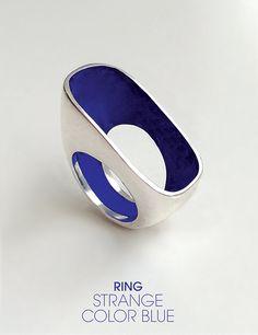 strange color blue • silver ring