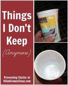 Things I Don't Keep (Anymore) Preventing Clutter at ASlobComesClean