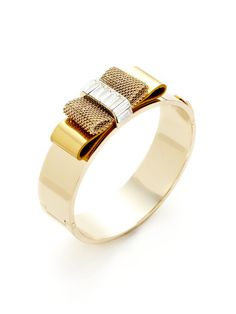 Deco Bow Hinged Bangle Bracelet by Henri Bendel on Gilt.com