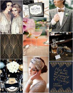 1920s 1930s glitzy glamorous ritzy wedding design theme inspiration