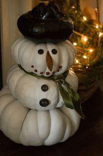 Pumpkin Snowman...I'll be saving my pumpkins next year! Merry Christmas, White Christmas, All Things Christmas, Christmas Holidays, Xmas, Winter Holidays, Beautiful Christmas, Happy Holidays, Holiday Fun
