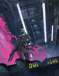 #cyberpunk #art #graphic #future  Klaus Wittmann cafe