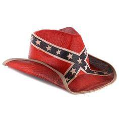Peter Grimm Rebel Flag Straw Hat