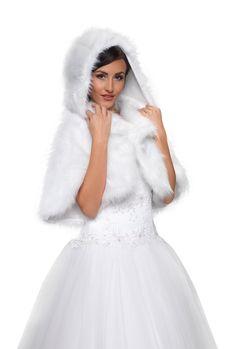 veste avec capuche femme demoiselle dhonneur pour marie mariage imitation fourrure de vison bolro - Bolero Mariage Fausse Fourrure