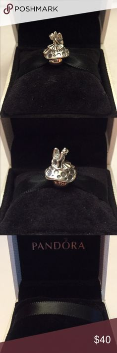 Authentic Pandora Forest Fairy Charm Sterling Silver, with Hallmark Stamp S 925 ALE. The Pandora Hinged Box is included. No Trading. Thank you. Pandora Jewelry