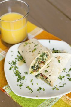 One Skillet Breakfast Burritos