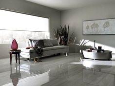porcelanato brilhante Floor Tiles For Home, Living Room Flooring, Tiles For Living Room, Modern Flooring, Apartment Renovation, Living Room Modern, Tile Design, Sweet Home, New Homes