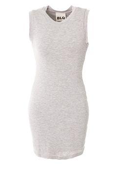 Greymix Jersey Tank Dress - BLQ Basiq