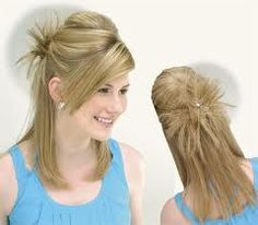 easy ways to style hair - Bing Images Easy Everyday Hairstyles, Cute Simple Hairstyles, Easy Hairstyles For School, Cute Girls Hairstyles, Summer Hairstyles, Girl Hairstyles, Hair Styles 2014, Medium Hair Styles, Short Hair Styles