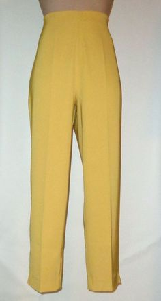 LAUREN VIDAL Cosy MIracle Fit Cropped Pants T3 (8/10) Yellow Gold #LAURENVIDAL #CaprisCropped