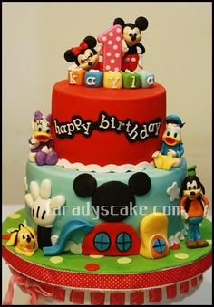 1000 images about gateau mickey on pinterest mickey - Decoration gateau anniversaire mickey ...