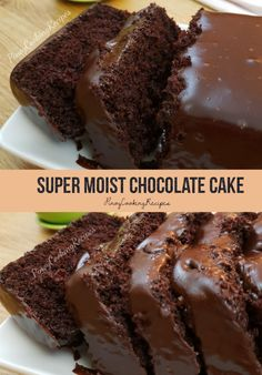 Super moist Chocolate cake with creamy chocolate frosting. Super Moist Chocolate Cake, Chocolate Loaf Cake, Amazing Chocolate Cake Recipe, Chocolate Desserts, Dairy Free Chocolate Cake, Chocolate Cake From Scratch, Cocoa Cake, Chocolate Frosting, Easy Cake Recipes