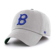 outlet store sale 7b4f2 6e171 Los Angeles Dodgers 47 Brand Gray Franchise Classic Fitted Hat