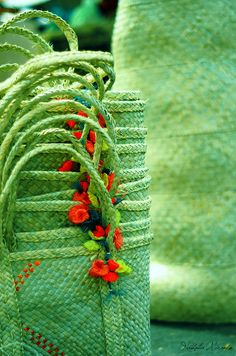 Baskets by Nath Miranda, via Flickr.  shades of green