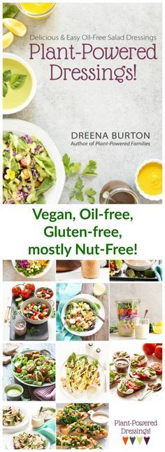 Oil-Free Salad Dressings are here! Healthy sauces and dressings to use on salads salad bowls and also grains beans and entrees! All recipes are dairy-free vegan gluten-free and most recipes also nut-free. Oil Free Salad Dressing, Salad Dressing Recipes, Salad Recipes, Plant Based Eating, Plant Based Diet, Plant Based Recipes, Healthy Sauces, Vegan Sauces, Vegan Cookbook