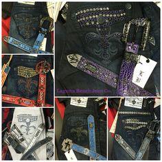 Laguna Beach Jean Co. Swarovski Crystal Jeans and Belt Combos - For inquiries: info@lbjcdenim.com #rocktheoclifestyle