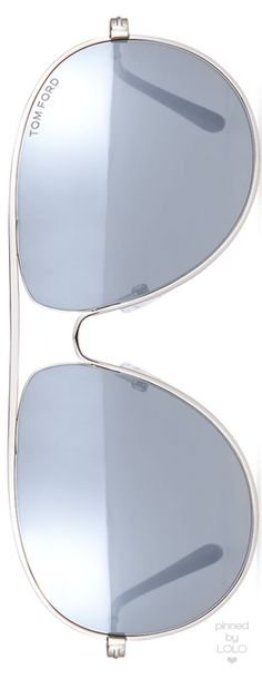 TOM FORD Cliff Light Ruthenium Aviator Sunglasses | LOLO❤︎