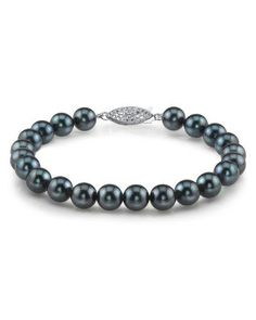 14K Gold 6065mm Japanese Akoya Black Cultured Pearl Bracelet * Want additional info? Click on the image.(This is an Amazon affiliate link)