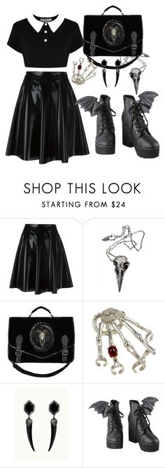 """""""Sem título #72"""" by lokimzh ❤ liked on Polyvore featuring MSGM, Killstar, Pamela Love and Iron Fist"""