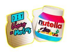 Diy Bloco de Notas de Nutella
