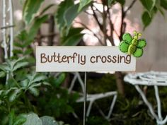 Fairy Garden accessories sign miniature by TheLittleHedgerow