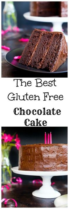 Gluten Free Three Layer Chocolate Cake + A Giveaway