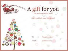 High Quality Image Result For Christmas Tree Gift Certificate Template Ideas Free Christmas Gift Certificate Templates