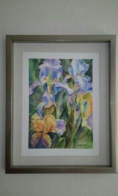 Orquídeas, acuarela por Gerardo Vejarano, año 2017.