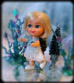 Lickety Spliddle as The Ice Skater, a OOAK Kiddle by Memorygirl Kiddles