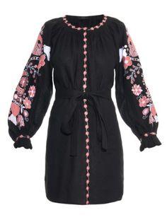 Tree of Life embroidered linen dress | Vita Kin | MATCHESFASHION.COM